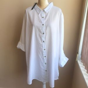 Other - Tunic style plus Sz White Cover Up